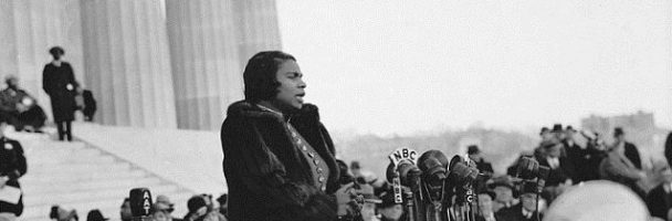 Marian Anderson, a Famous African American Singer, and Performer