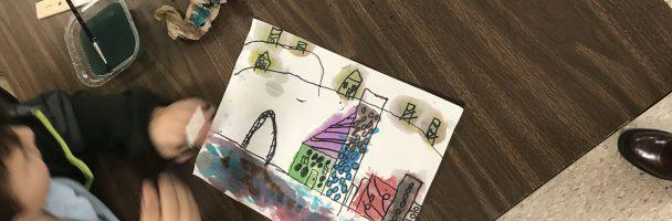 Cityscape Water Color Lesson Plan