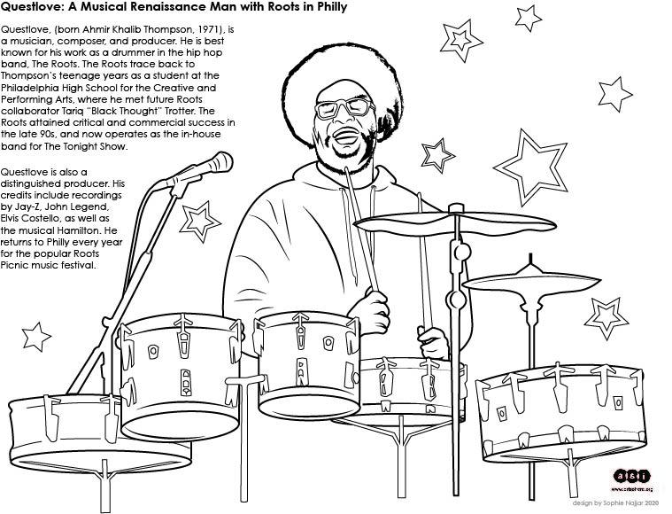 Famous Musician Questlove Handout