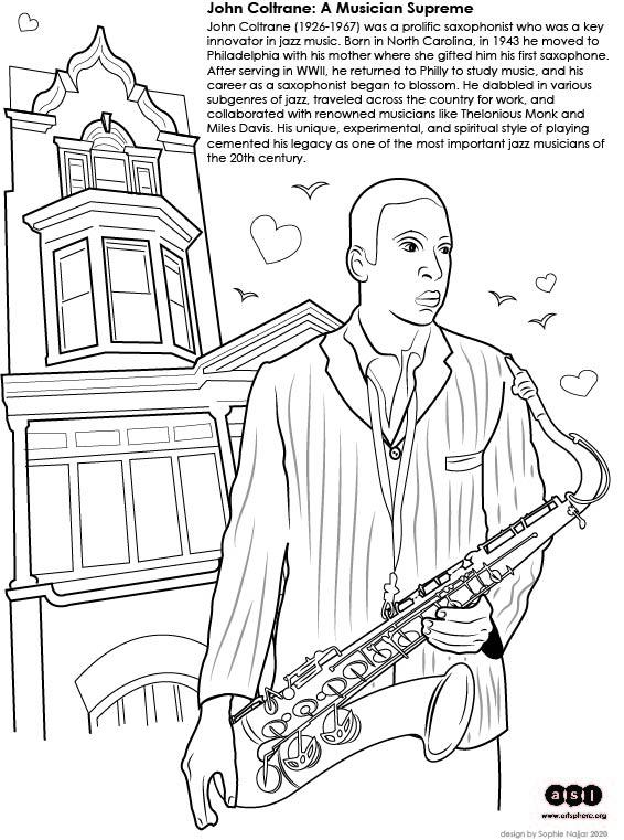 John Coltrane Handout: a Famous Jazz Musician