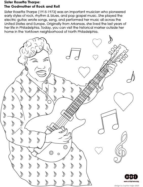 Sister Rosetta Tharpe handout