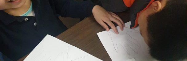 Mindful hands and Patterns Art Lesson