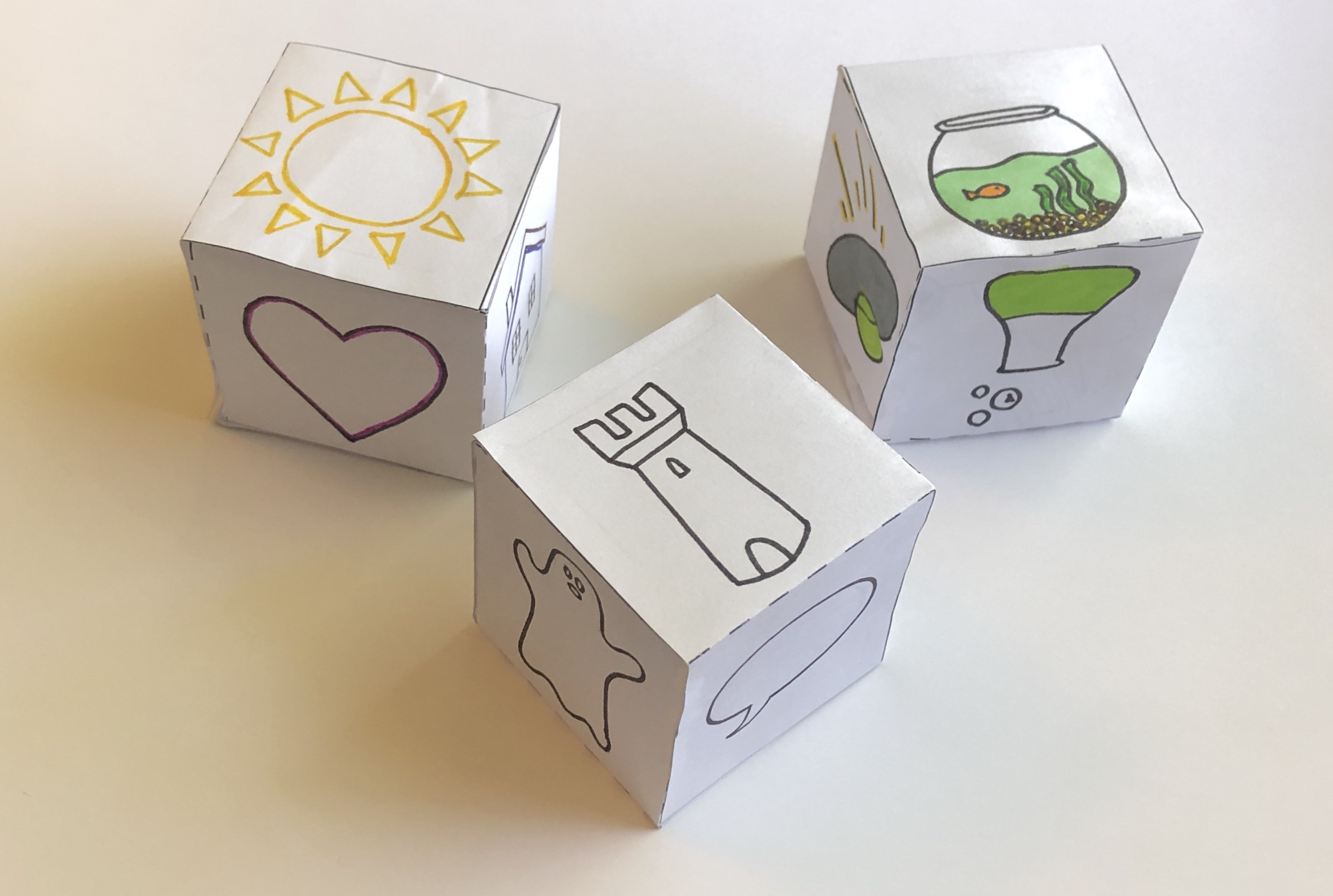 Create Your Own Story Dice Game