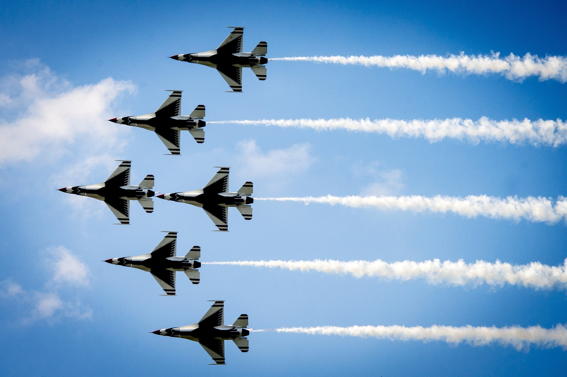 The Thunderbirds and Blue Angels Fly Over Philadelphia