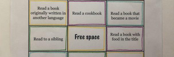 Literacy Bingo Handout
