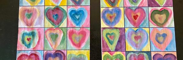 Mother's day Inspired Kandinsky Heart Color Study