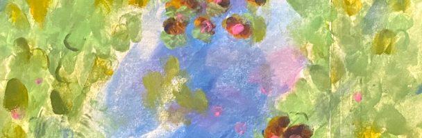 Claude Monet Finger Painting
