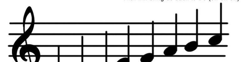 Musical Scale Sign Handouts