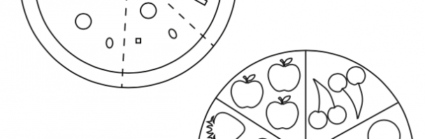 Create Paper Pizza and Fruit and Vegetable Tray Collages Handout