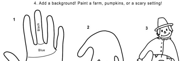 Hand Print Scarecrow Handout