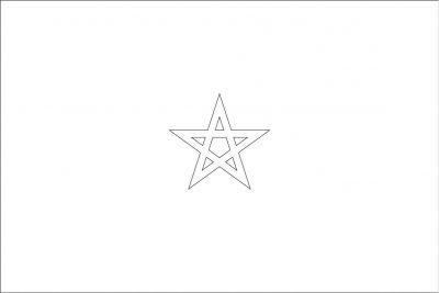 Color Morocco's Flag