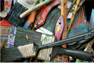 ASI Mural Project Paint brushes