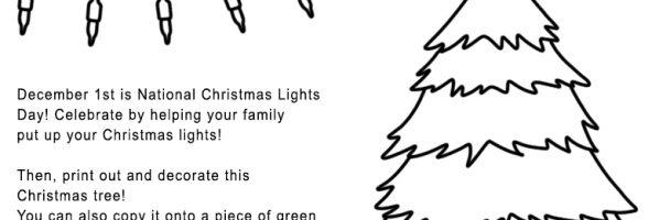 National Christmas Lights Day Handout