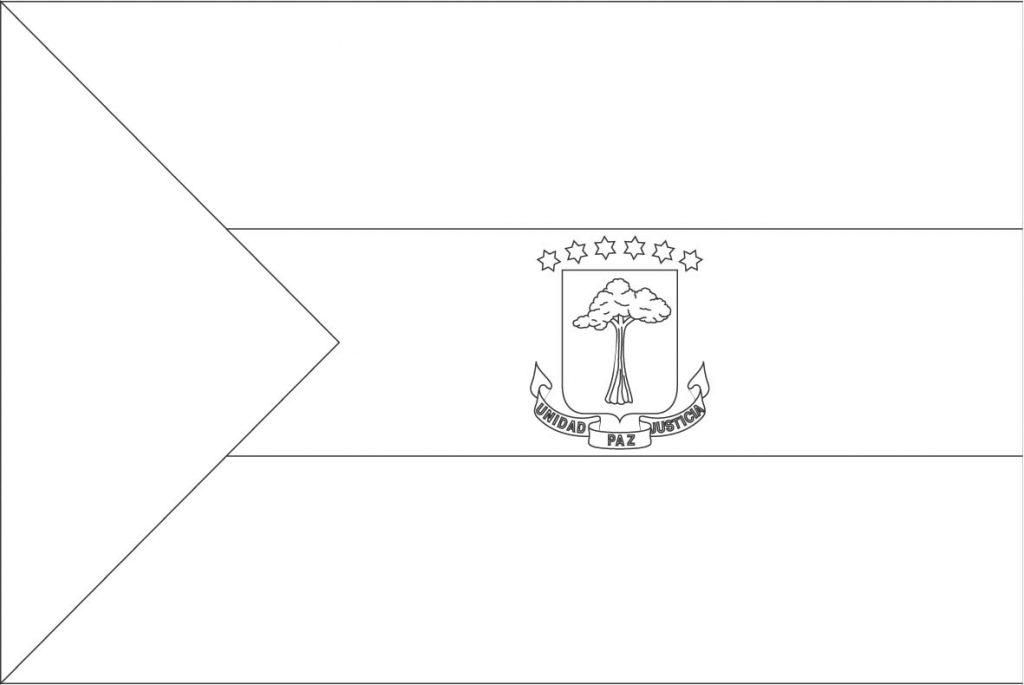 Equatorial Guinea Flag No Color