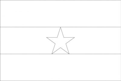 Ghana Black and White Flag