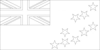 Download and Color the Flag