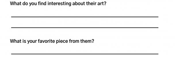 Female Artists Handout