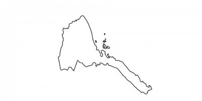 Eritrea Coloring Map
