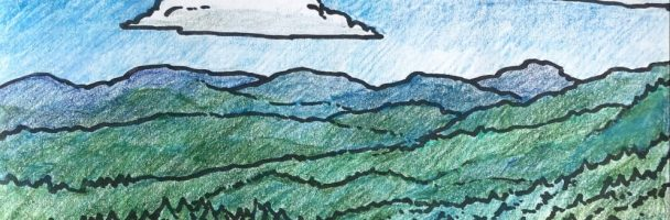Landscape Coloring Sheet