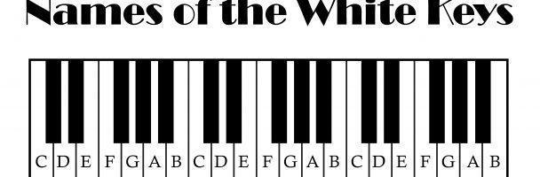 White Keys on a Piano