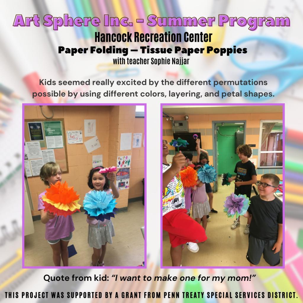 Tissue Paper Poppies – Hancock Rec Center