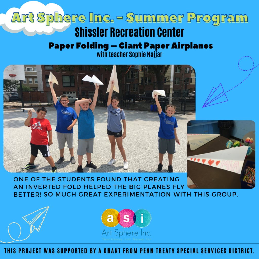 Giant Paper Airplanes – Shissler Rec Center