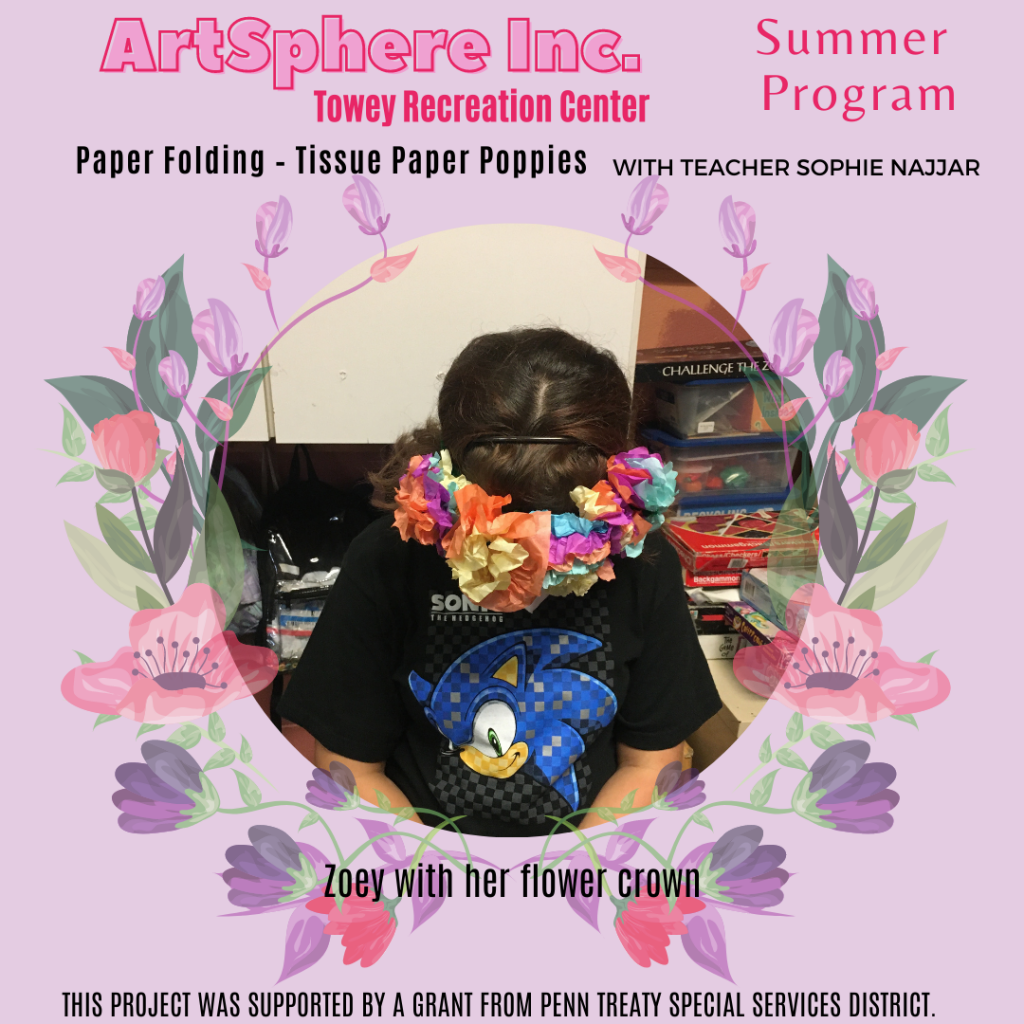 Tissue Paper Poppies - Towey Rec Center