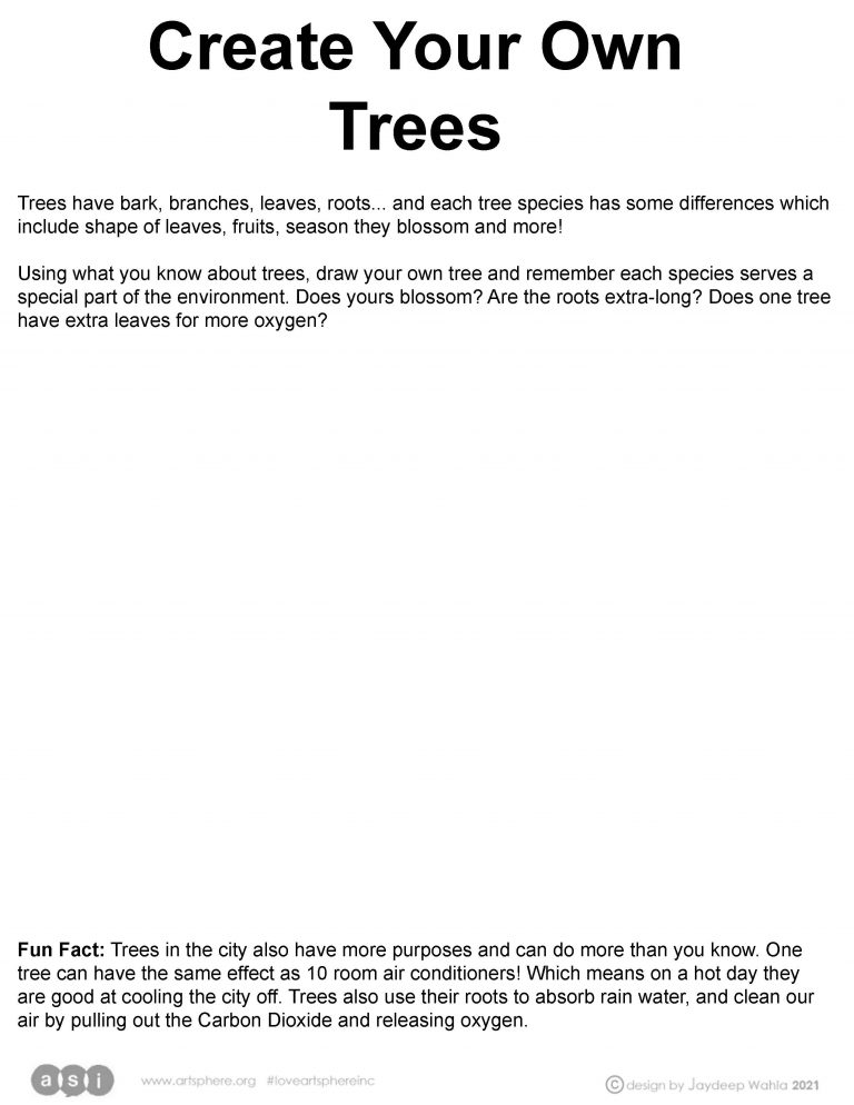 Create Your Own Trees Handout