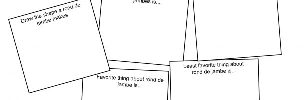 Getting to Know Rond de Jambe Handout
