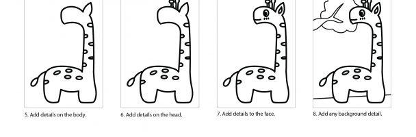How to draw a cute giraffe