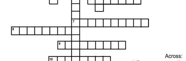 Indigenous Key Terms Crossword Handout